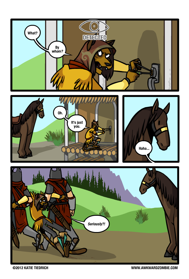 Detected by a horse